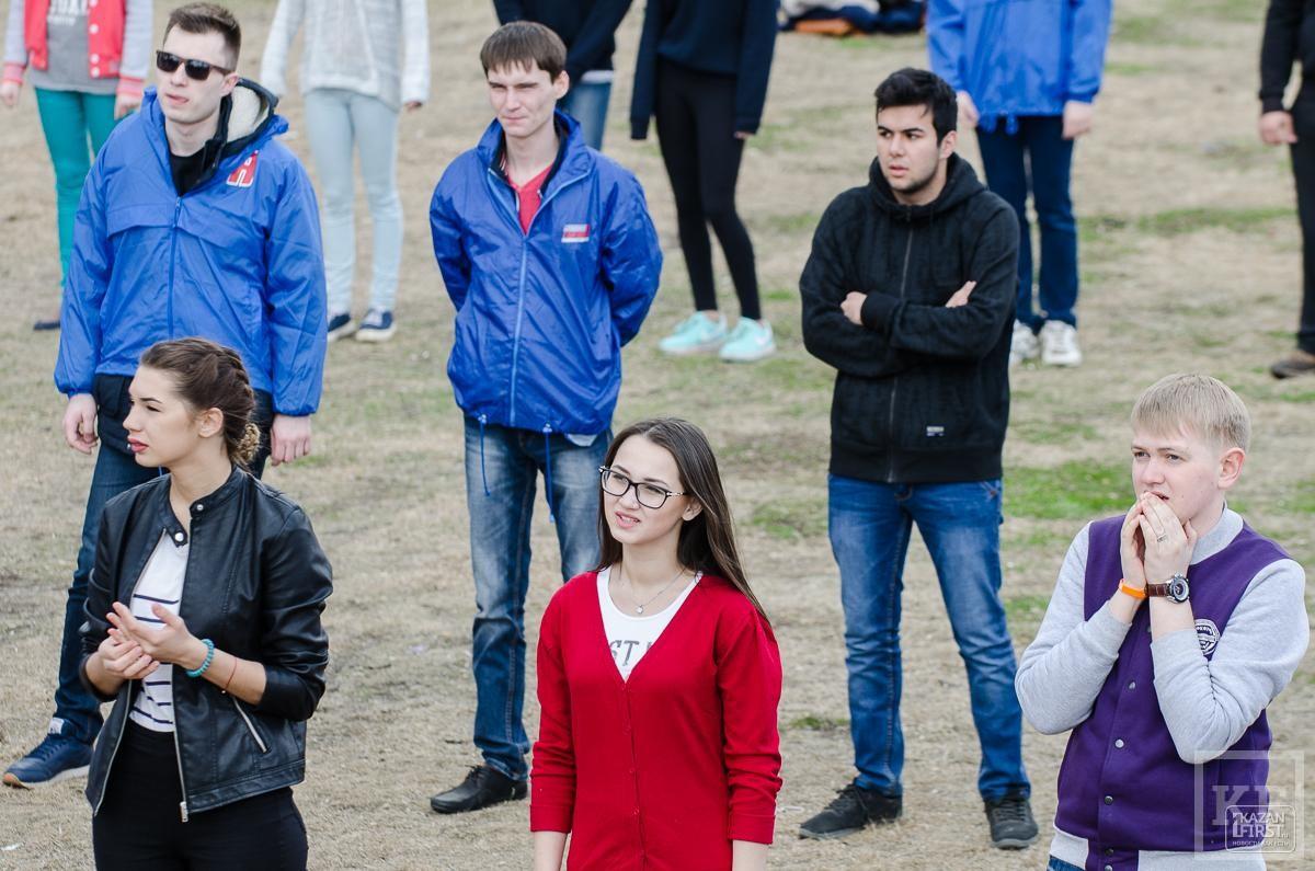 В Казани прошла «Зачетная зарядка» от «Молодой гвардии»