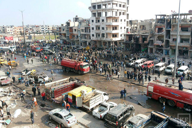 При двойном теракте в сирийском Хомсе погибли 46 человек