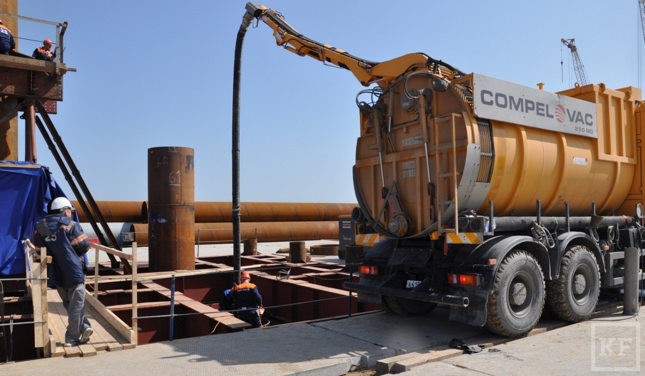 Технику «Камаза» задействуют при строительстве Керченского моста