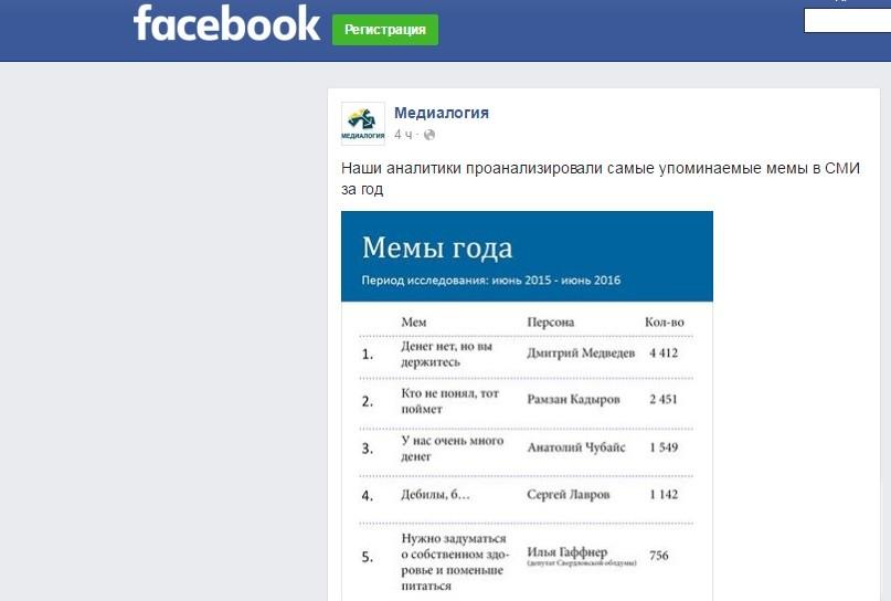 Фраза Медведева «Денег нет, но вы держитесь» названа главным мемом года в СМИ