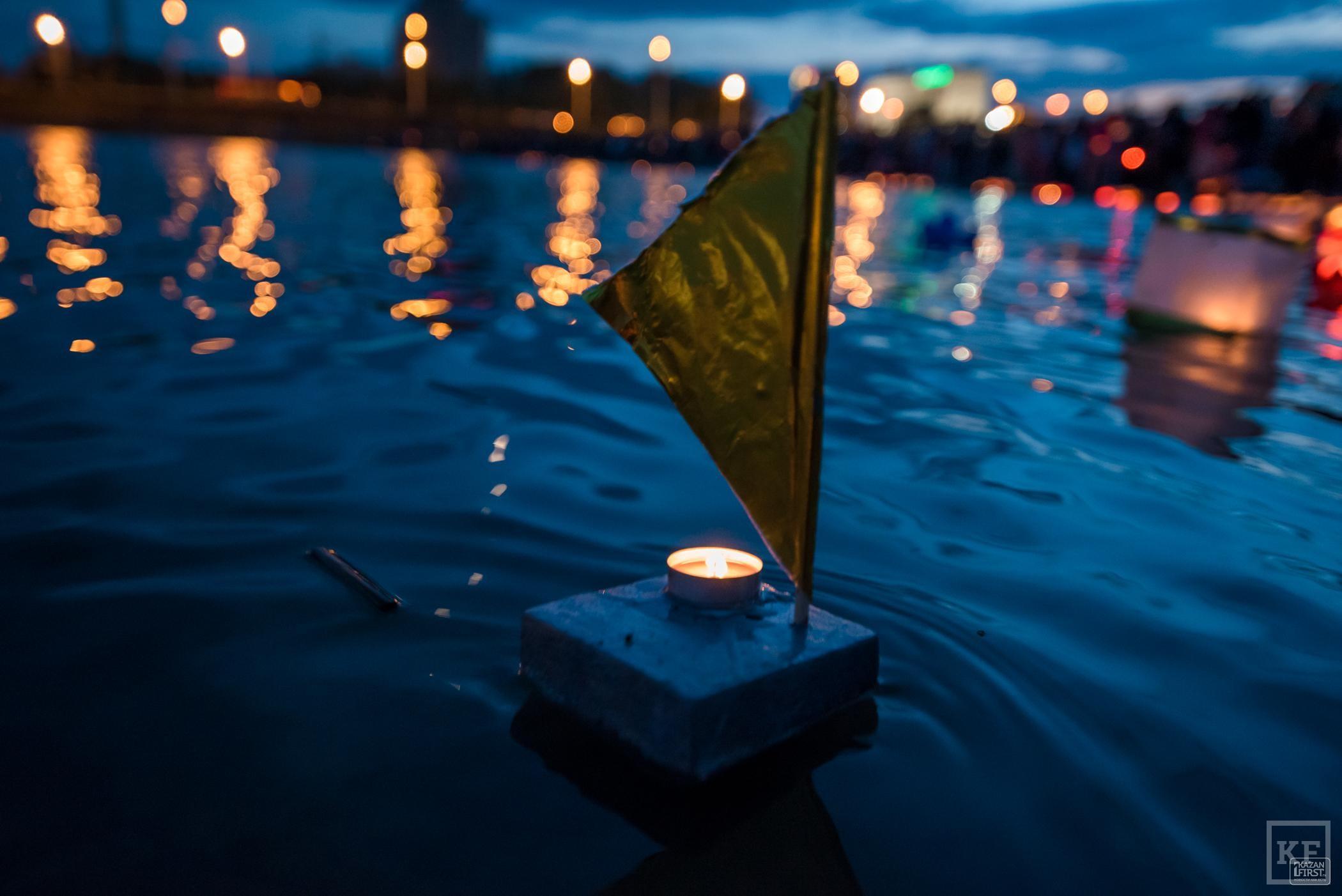 В Казани впервые прошел Фестиваль водных фонариков