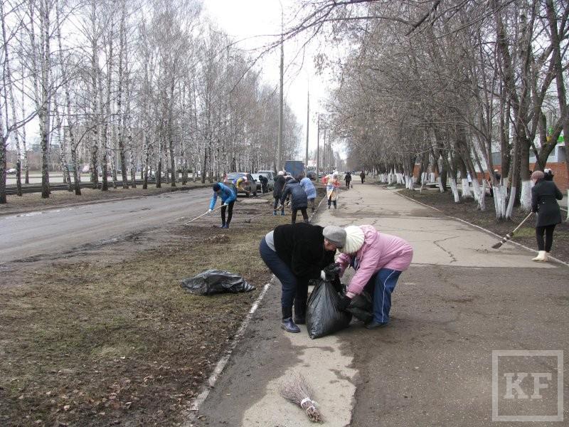 Исполком Челнов отчитался за двухмесячник по саночистке города