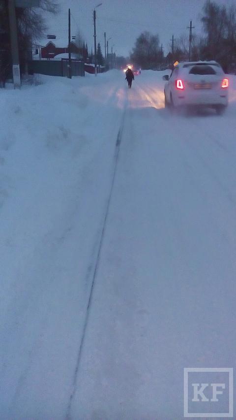 Жители Бугульмы засыпали «Народный контроль» жалобами на заснеженные улицы и дороги