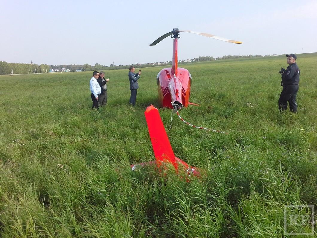 В Татарстане после жесткой посадки у санитарного вертолета отломилась хвостовая часть