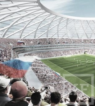 ПСО «Казань» начало сборку купола на стадионе «Самара Арена»