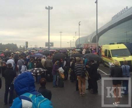В Москве идет эвакуация аэропорта Домодедово, причина – сильное задымление