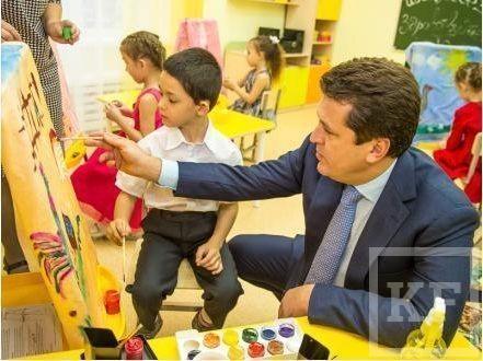 Ильсур Метшин принял участие в открытии детсада на 220 мест в Ново-Савиновском районе Казани