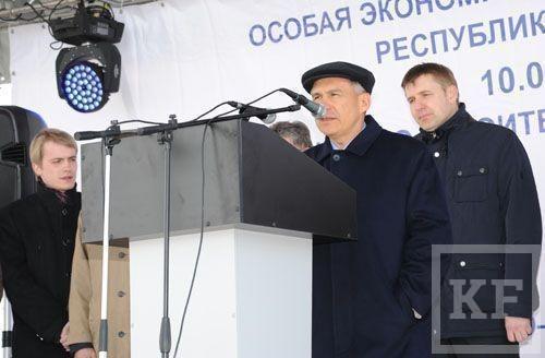На ОЭЗ «Алабуга» президент Татарстана принял участие в закладке первого камня в основания двух заводов