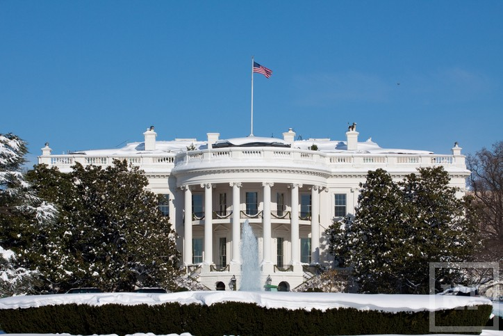 White House, winter