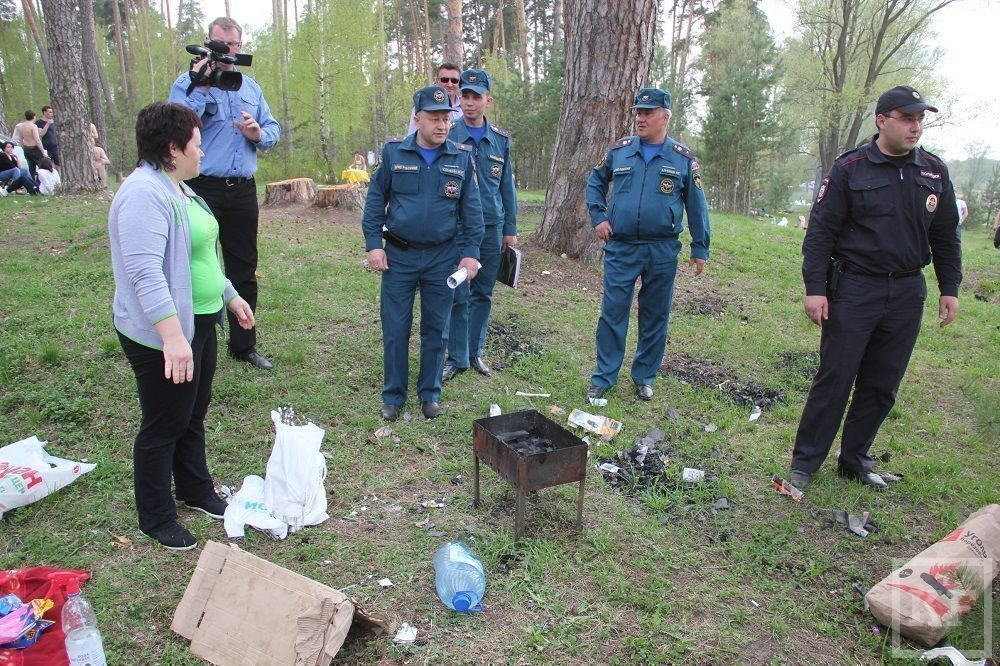 Сотрудники МЧС оштрафовали за приготовление шашлыка отдыхающих на озере Лебяжье в Казани