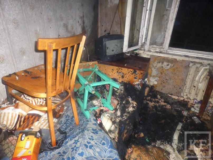 В Нижнекамске из-за непотушенной сигареты погиб пенсионер