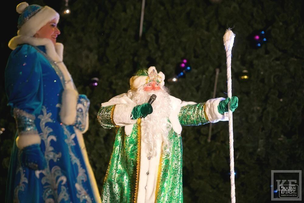Открытие центральной городской елки в парке Тысячелетия Казани