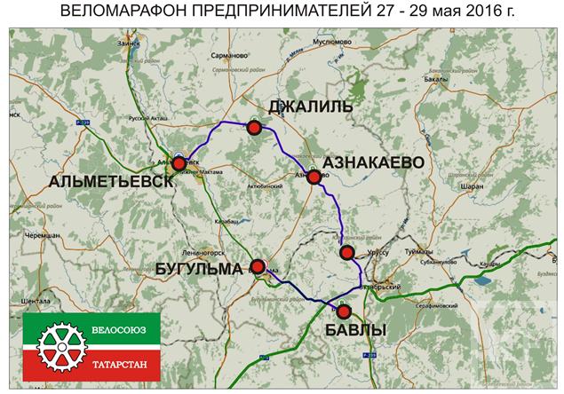 В Татарстане пройдет веломарафон предпринимателей
