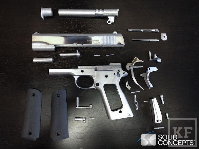 3D-принтер впервые напечатал металлический пистолет