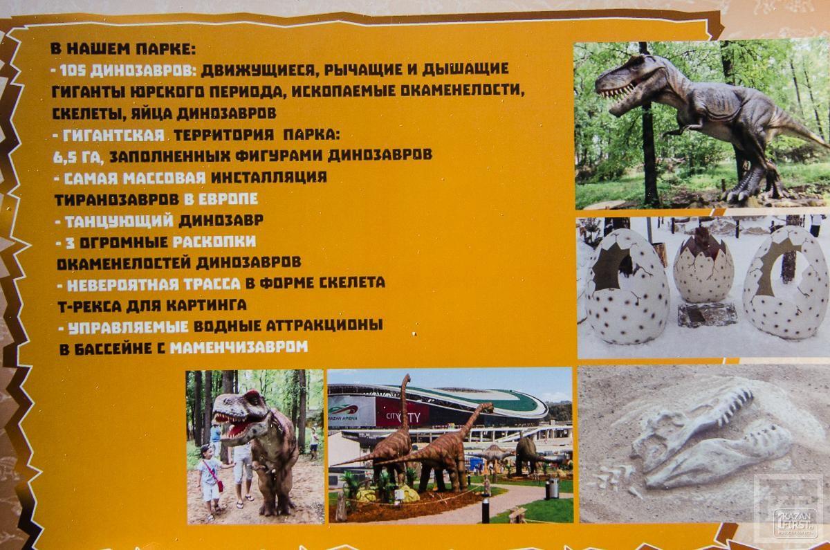 Все, что вы должны знать об открытии парка динозавров в Казани