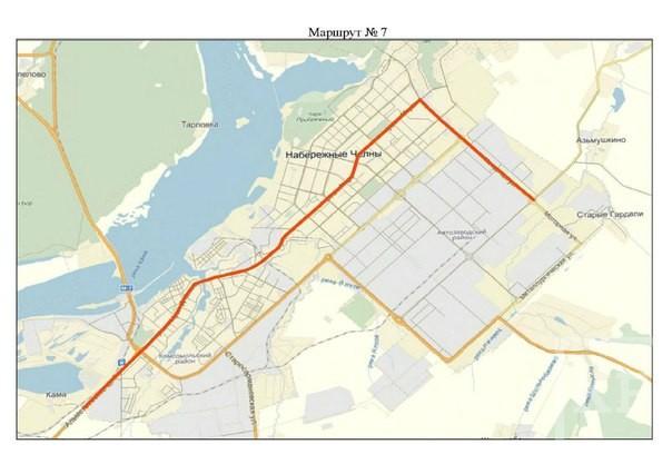 Стали известны схемы новых автобусных маршрутов в Набережных Челнах