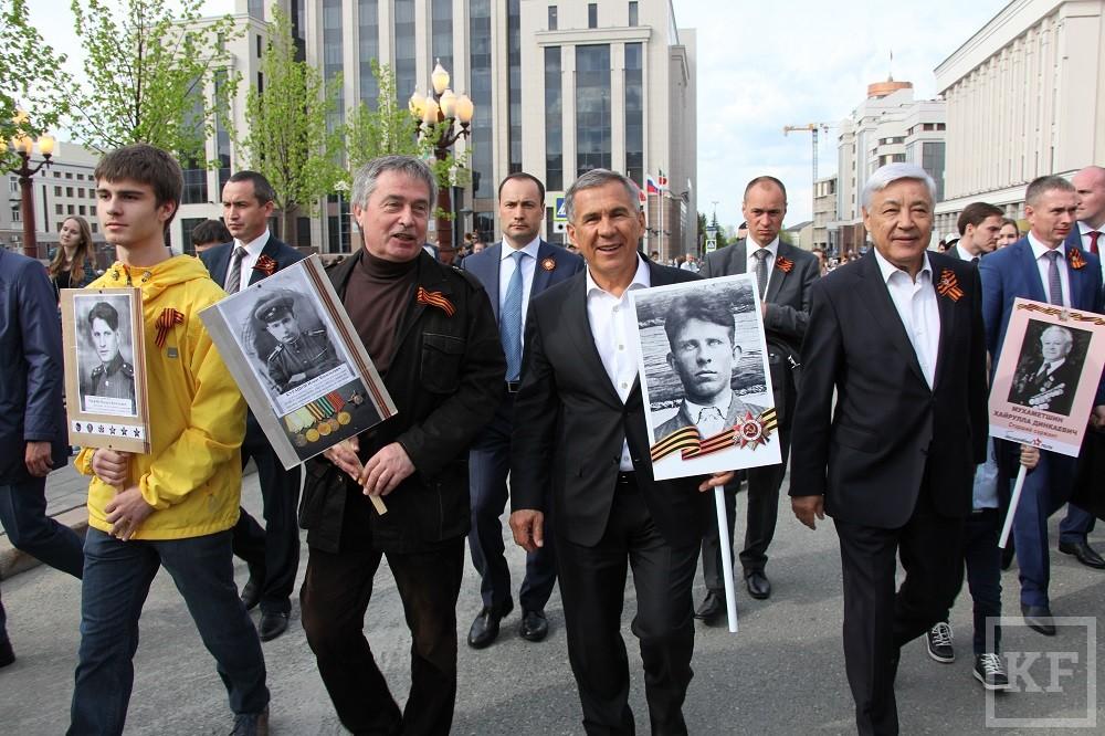 Президент Татарстана возглавил акцию «Бессмертный полк»