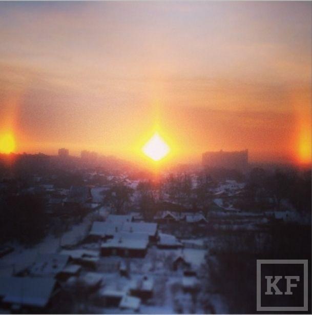 Вчера жители Казани могли видеть редчайшее астрономическое явление гало