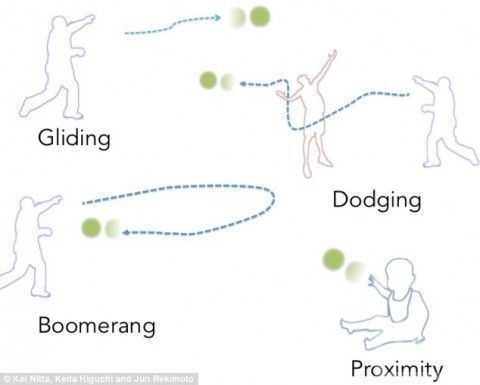 Японский инженер Юн Рекимото изобрел летающий мяч