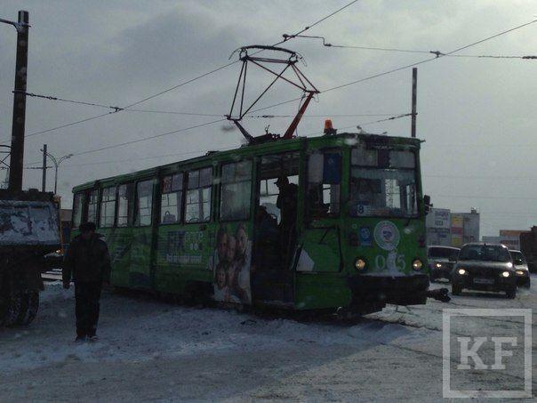 Два трамвая попали в ДТП В Набережных Челнах