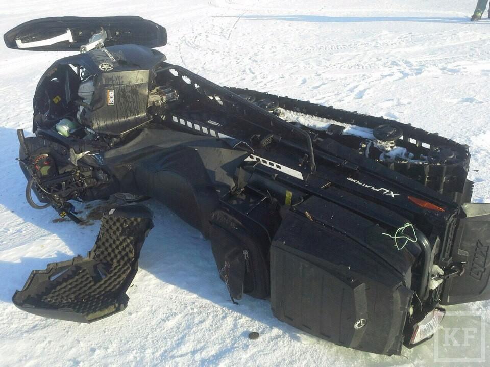 В Татарстане насмерть разбился мужчина, упав с 9-метровой высоты на снегоходе
