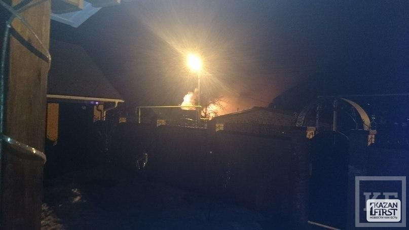 Пожар в элитном поселке Боровое Матюшино