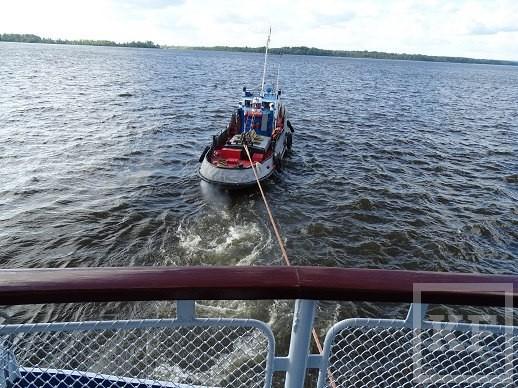 В речном порту Чистополя застрял круизный теплоход