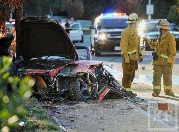 Появились фотографии с места аварии где погиб звезда фильма