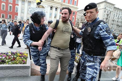 В Москве в ходе несанкционированного гей-парада задержаны 15 человек