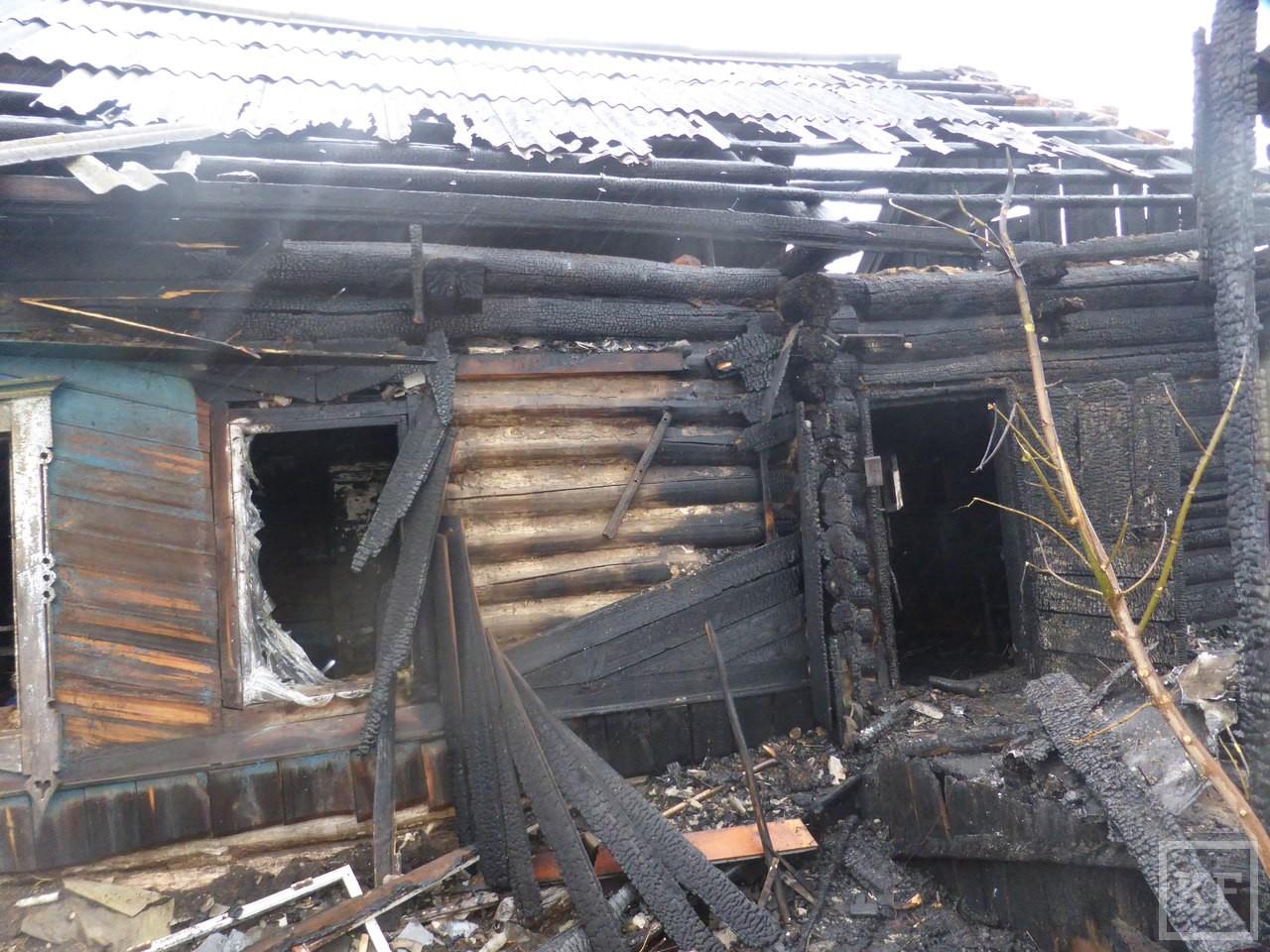В Нижнекамском районе заживо сгорел пенсионер