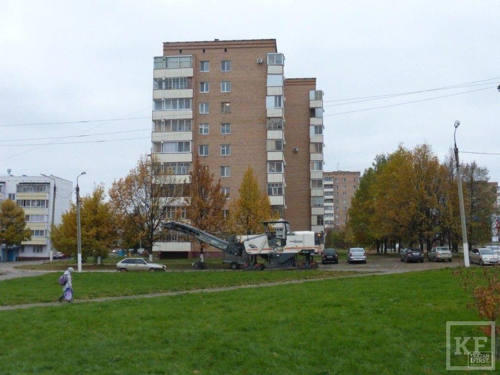 В Нижнекамске на улице Менделеева, 1 начался ремонт дороги