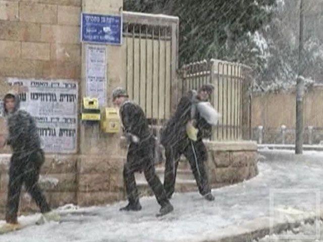 На Ближнем Востоке выпал снег и сильное похолодание