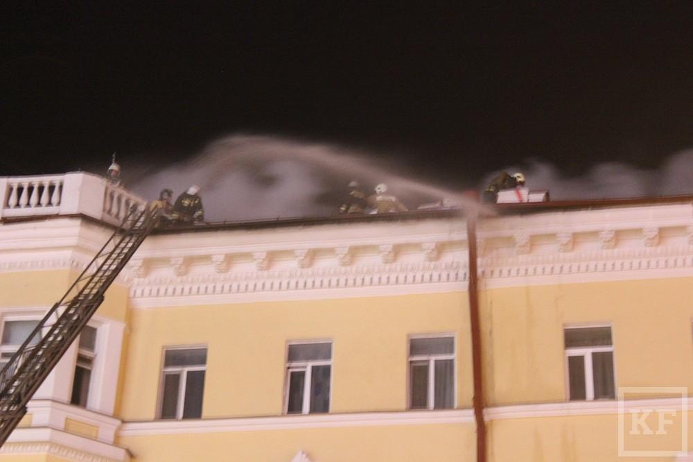 Почему загорелся жилой дом на улице Пушкина в Казани