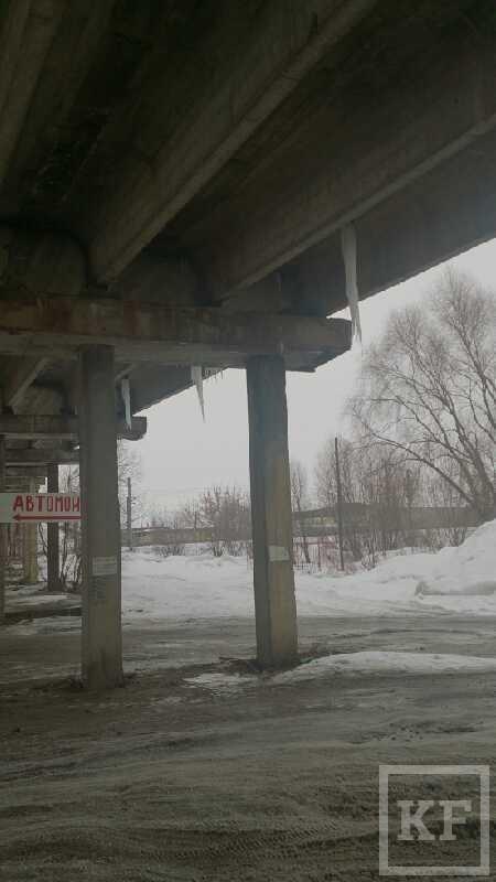 Житель Зеленодольска пожаловался на сосульки под мостом – «Народный контроль»