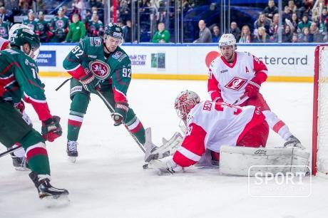 Гол «АкБарса» вворота «Спартака» был засчитан ошибочно — КХЛ