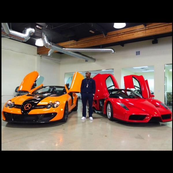 Mayweather posted a snap online of himself in front of a fleet of luxury cars, as well as his own private jet
