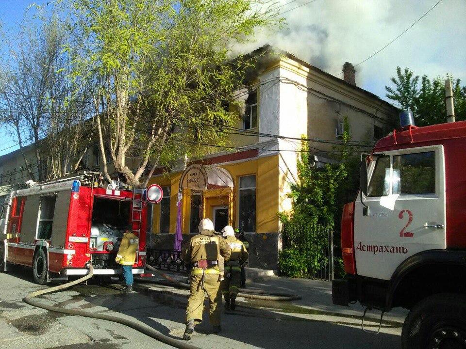Врезультате сильного возгорания вжилом доме вАстрахани пострадал один человек