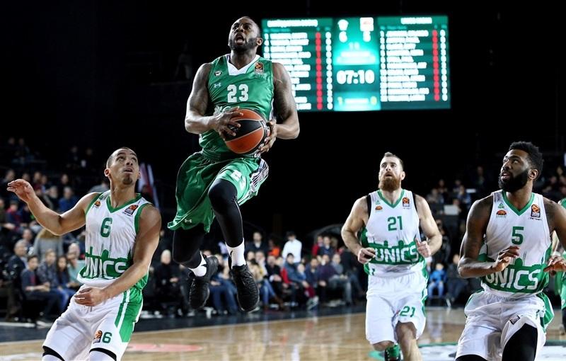 Баскетболисты УНИКСа проиграли турецкой «Дарюшафаке» вматче Евролиги