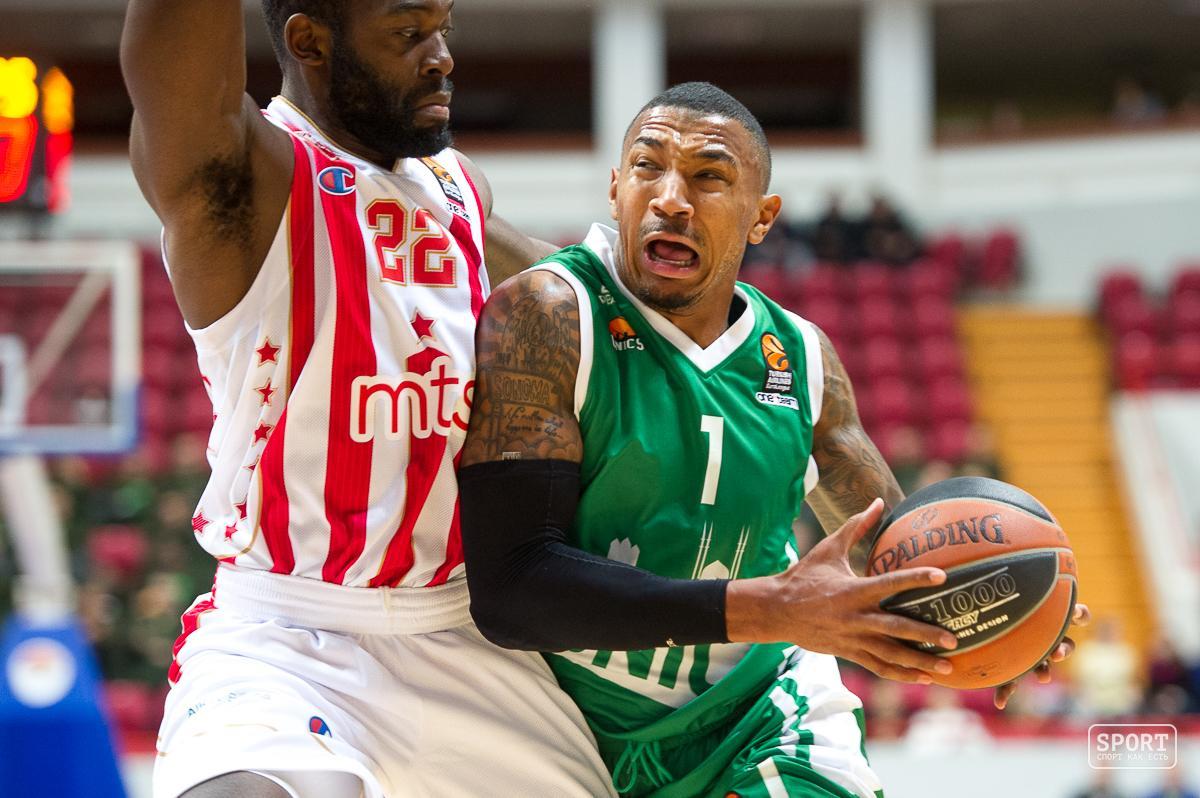УНИКС победил «Црвену Звезду» вматче чемпионата баскетбольной Евлолиги