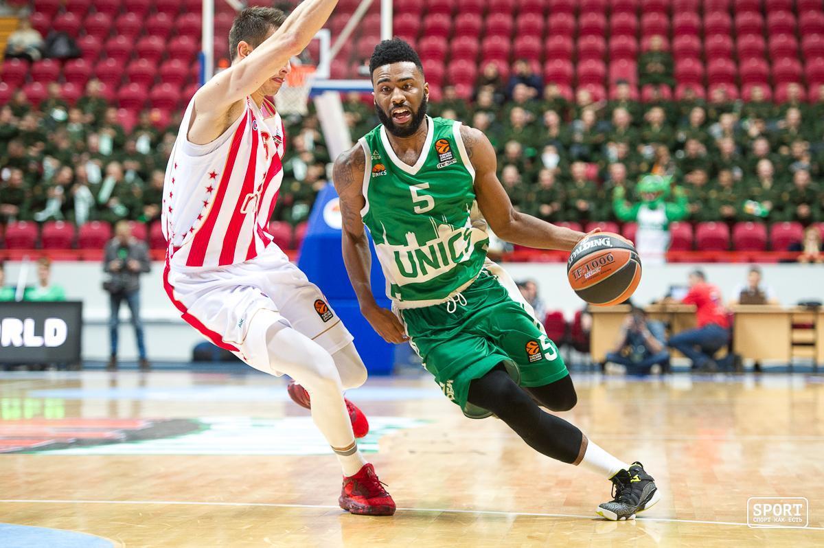 Баскетболисты казанского УНИКСа обыграли «Црвену Звезду» вдомашнем матче постоянного чемпионата Евролиги