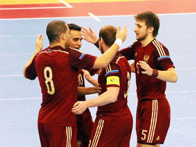 Югорчане вывели сборную Российской Федерации вплей-оффЧМ помини-футболу