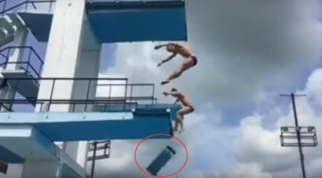 Напредолимпийском сборе вГаване под российским прыгуном вводу рухнула вышка