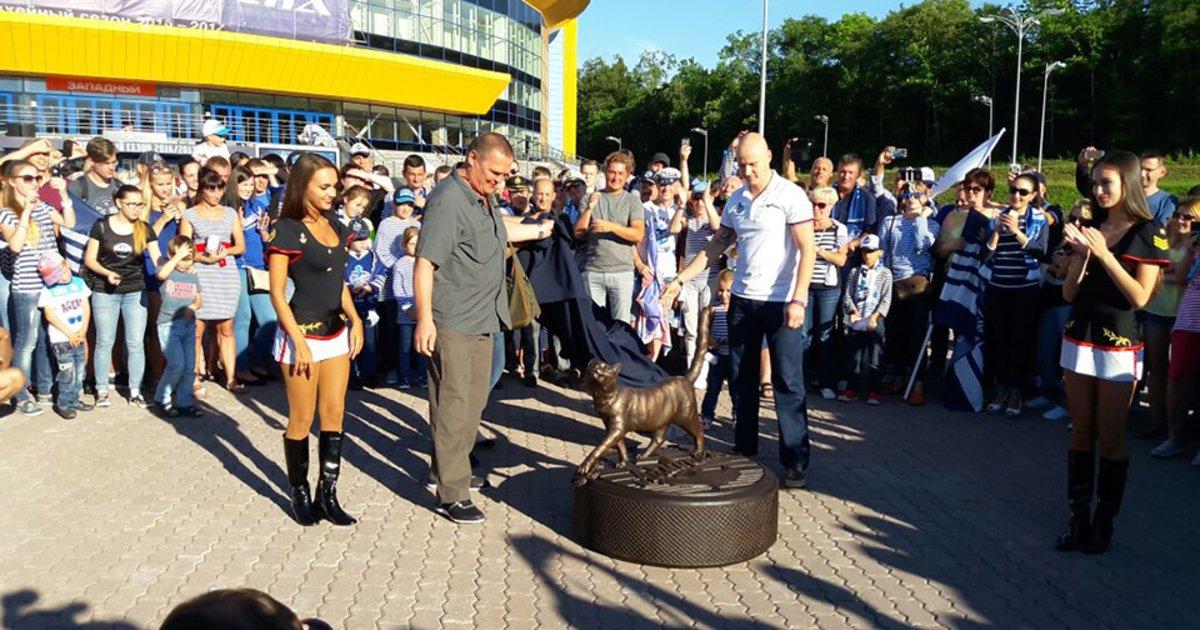 Открытие монумента талисмануХК «Адмирал» кошке Матроске состоится всубботу