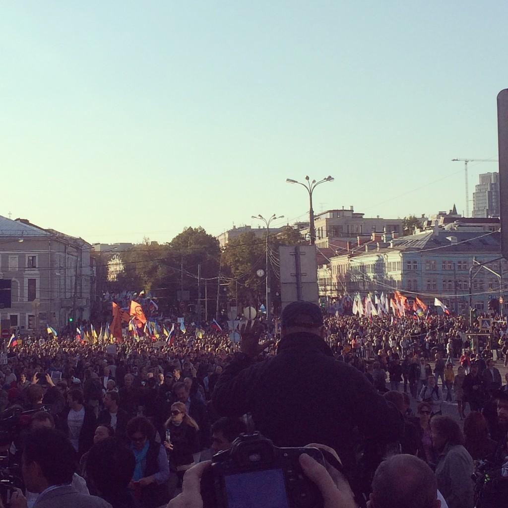 В Москве началось оппозиционное шествие