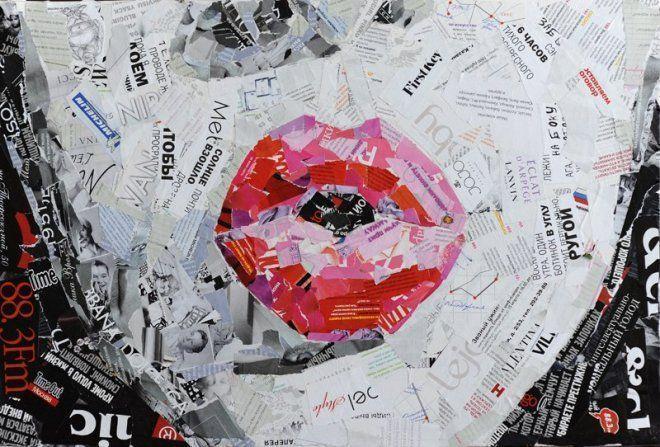 Картина из журналов мастер класс