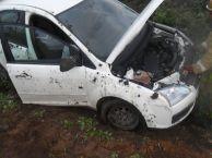 В Татарстане иномарка опрокинулась в кювет