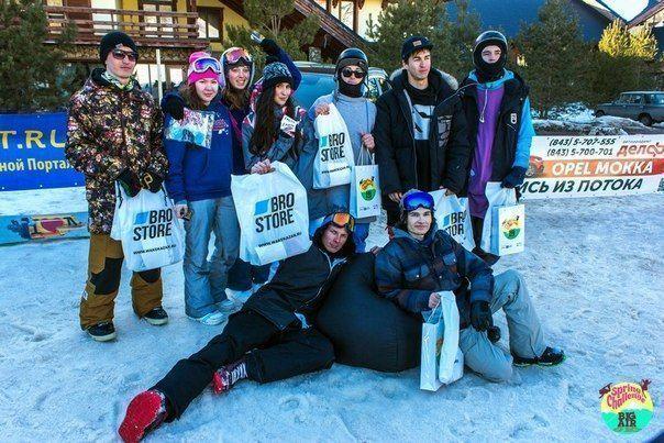 Лучшие «воздушные» сноубордисты и ньюскулеры получили призы