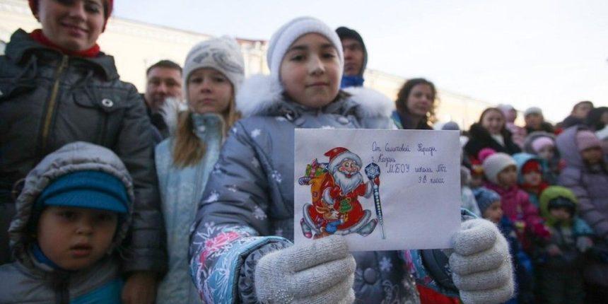 Шествие Дедов Морозов в Казани