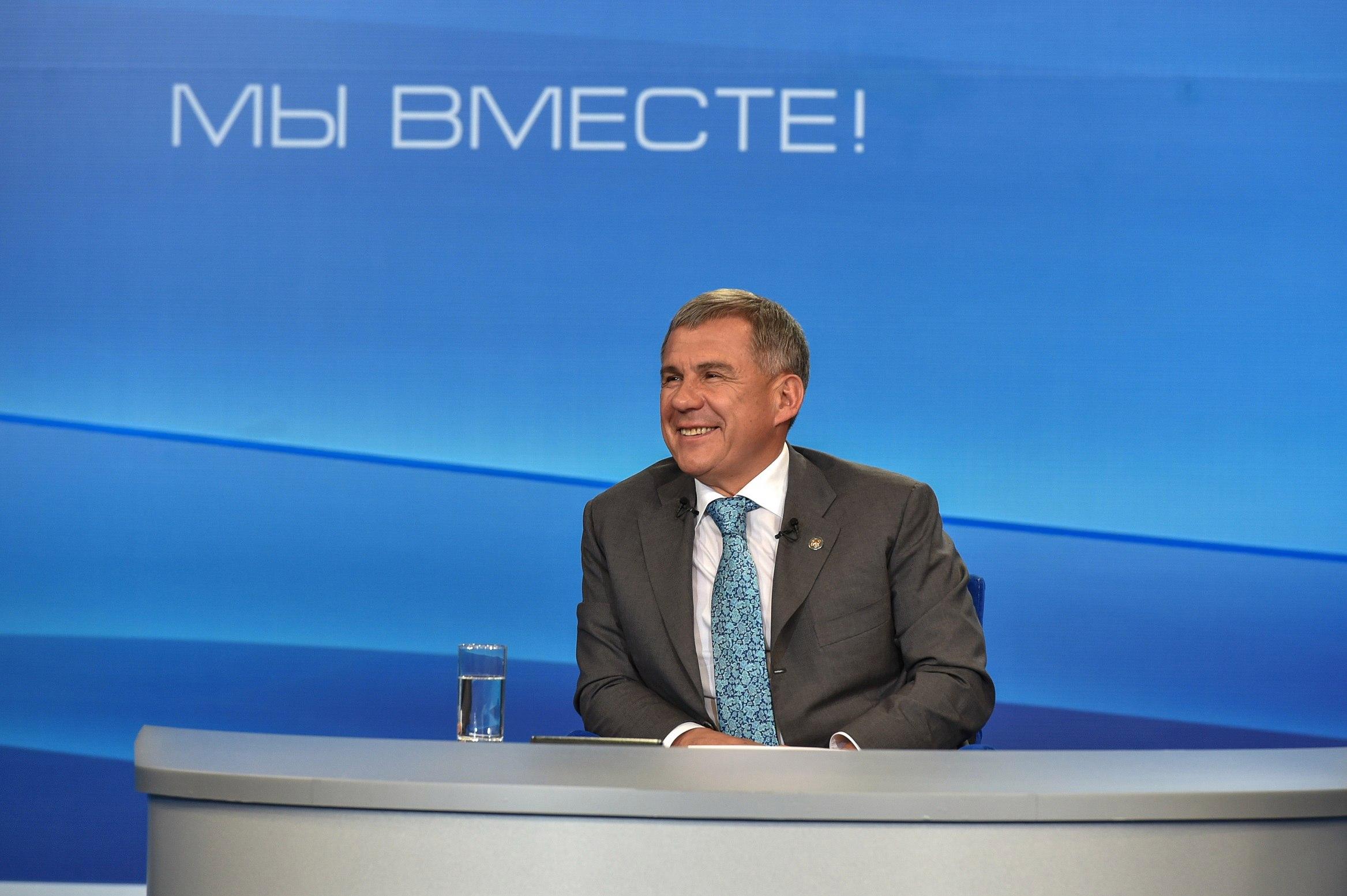 Рустам Минниханов: Путин — наш лидер. Татарстан — надежный оплот России