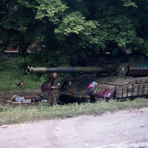 Штаб ДНР: танки ополчения вошли в Новоазовск